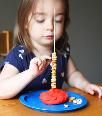 Stacking Cheerios: A Preschool Counting Game