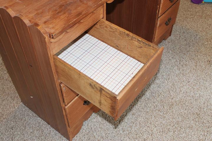 desk drawer before