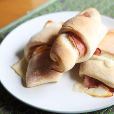 Homemade Ham and Cheese Crescent Rolls {Freezer Meal}