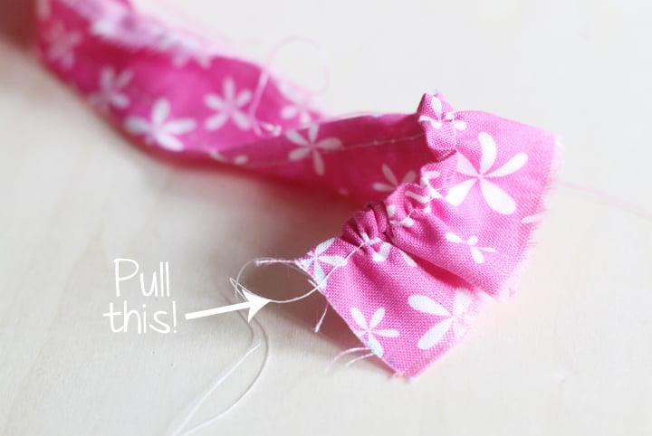 ruffled fabric flowers