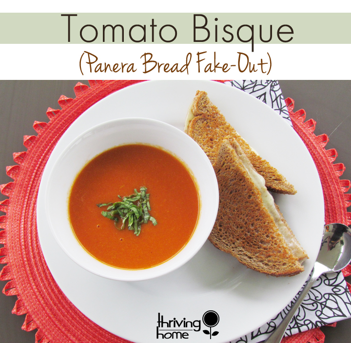 Tomato Bisque Soup Recipe - Even better than Panera Bread's!