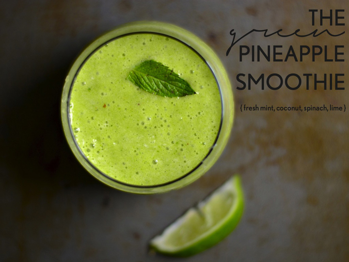 This smoothie is super-bright, refreshing, and filled with tropical flavors.
