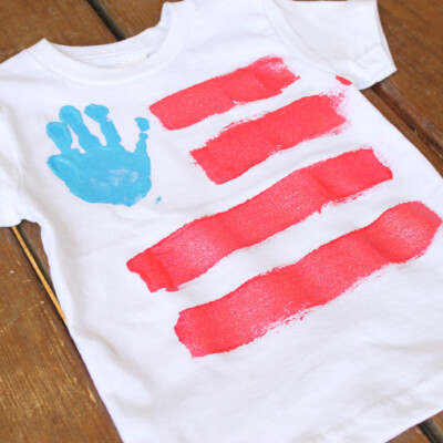 Hand Print Fourth of July Shirts