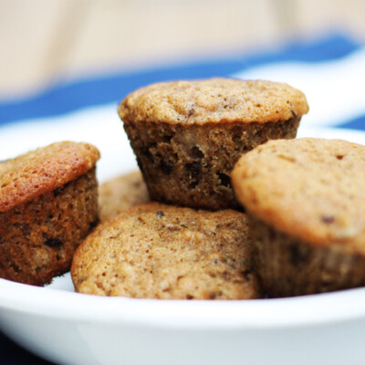 Whole Wheat Banana Chocolate Chip Muffins {Freezer Meal}