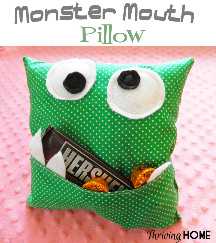 monster mouth pillow
