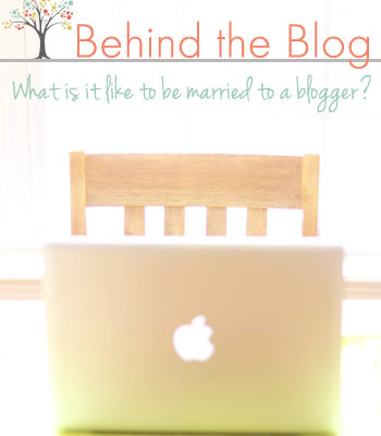 Thriving Home bloggers, Polly and Rachel, interview their husbands about what it's like to be married to a blogger. Hilarious!