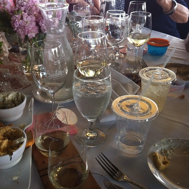 I think this table needs another glass. #FancyBridalShower