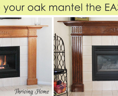 How to Easily Update an Oak Mantel