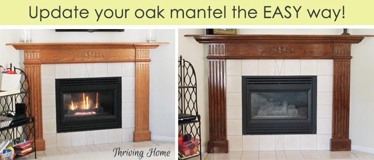 update oak mantel