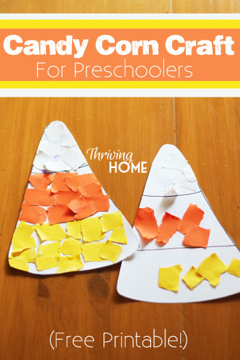candy corn craft for preschoolers