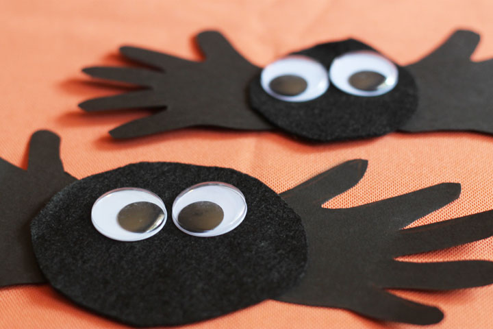 cute spider halloween craft