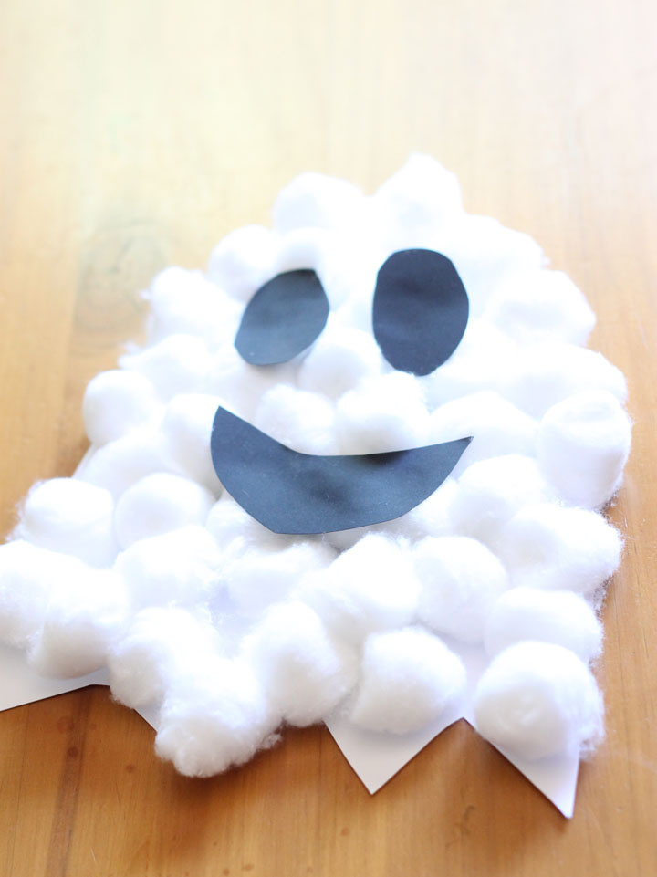 puffy ghost halloween craft