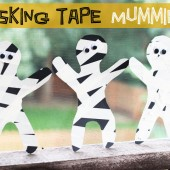 Masking Tape Mummy: Easy and Fun Halloween Craft