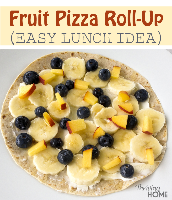 Fruit Pizza Roll-Ups recipe: An easy lunch for kids!