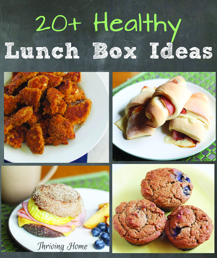Healthy lunch box ideas from Thriving Home