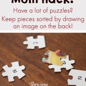 Mom Hack: Keep Puzzles Organized
