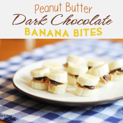 Peanut Butter Dark Chocolate Banana Bites