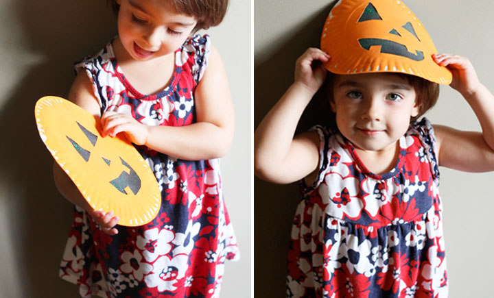 pumpkin paper plate craft for preschoolers