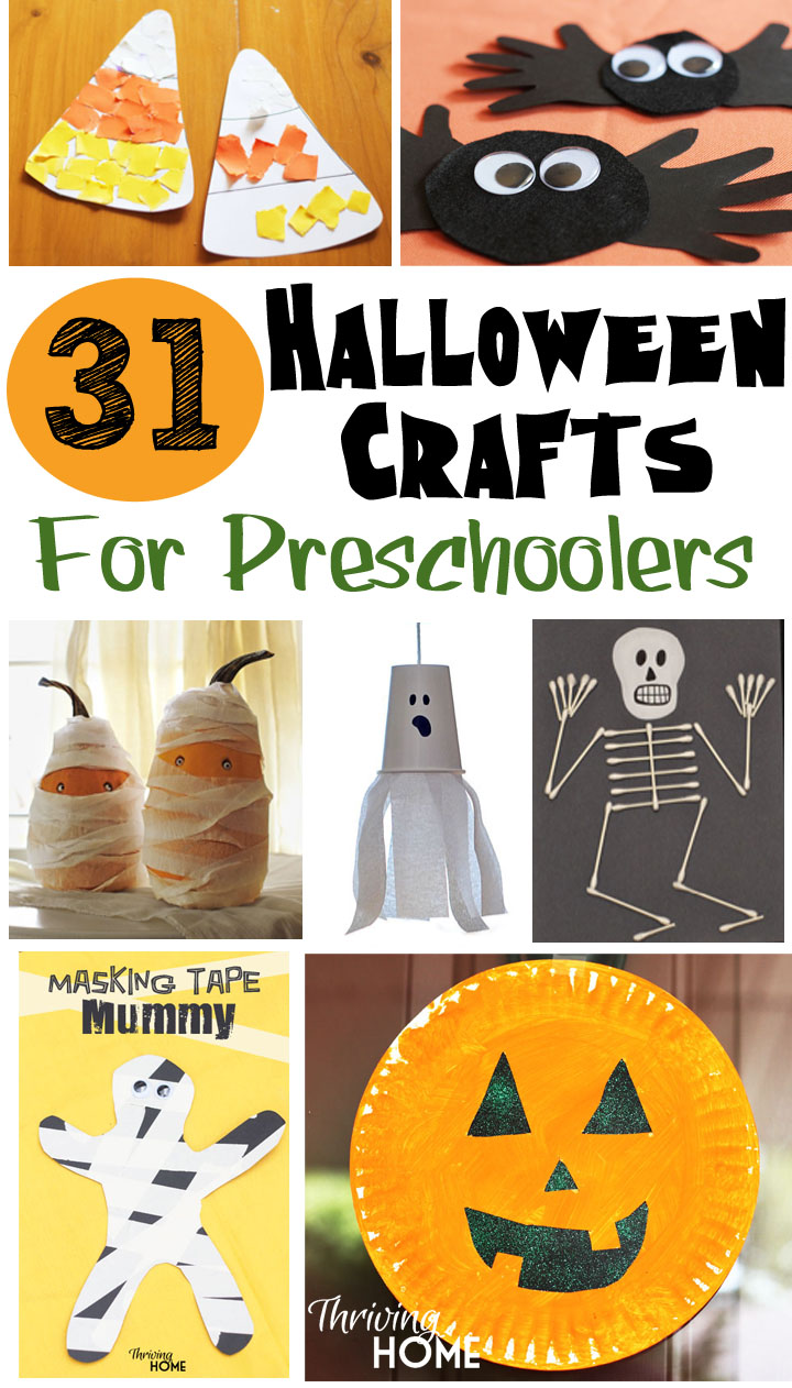 Collage image of halloween craft ideas