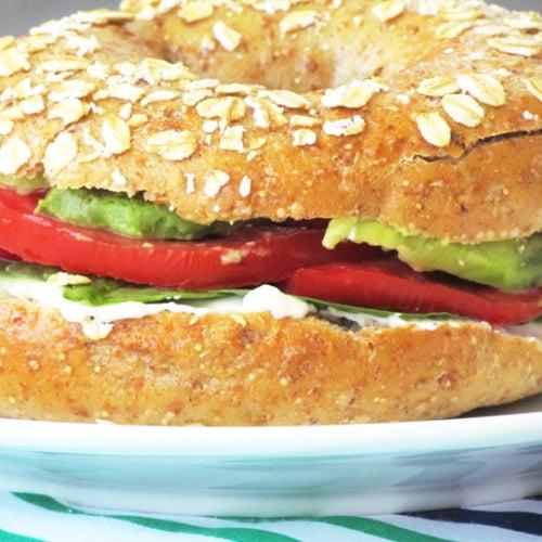 Veggie Sandwich on Whole Grain Bagel
