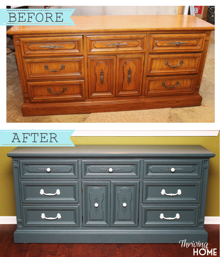 Dingy Dresser Transformed Into Kitchen Hutch Thriving Home