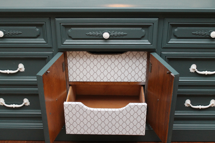dresser to hutch makeover