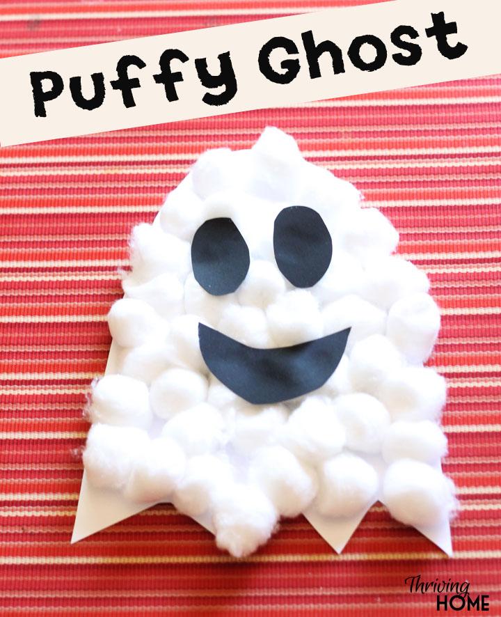 halloween craft puffy ghost