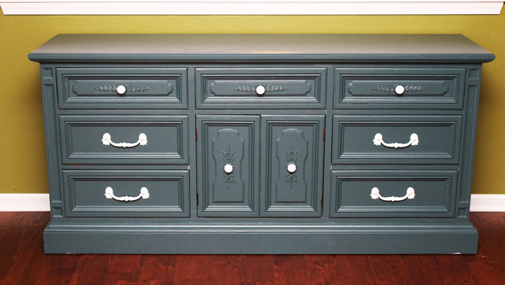 kitchen hutch painted blue