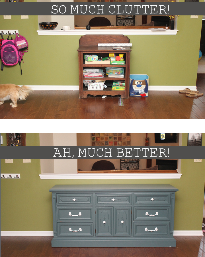 Kitchen Hutch. One Last Surpriseu2026 There Are Two Drawers In The Center Of  The Dresser That Can Pull Out And Serve As Storage. I Thought Itu0027d Be Fun  To Have A ...