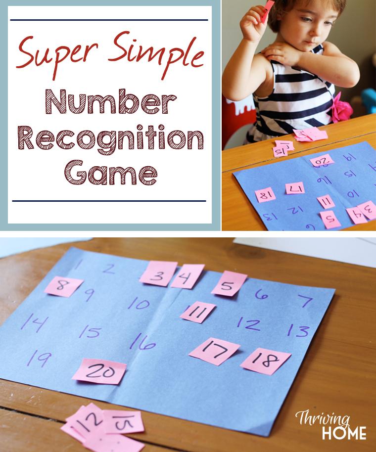 simple number learning game for preschooler