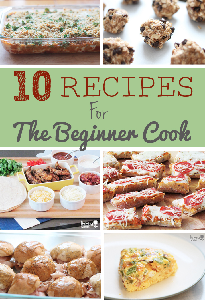 10 recipes for the beginner cook