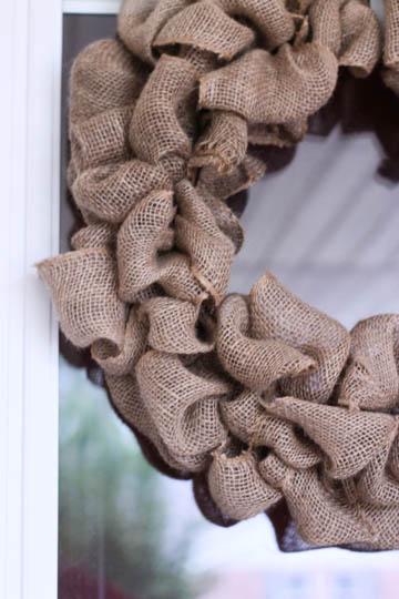Make a burlap wreath