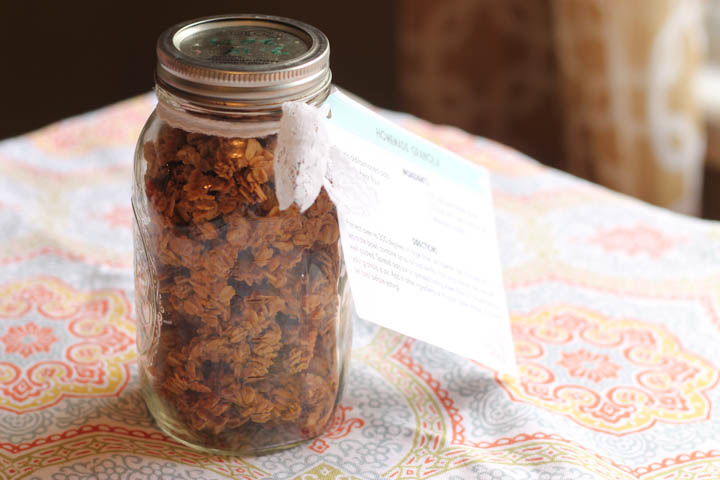 gift idea: granola with free printable
