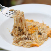 Chicken Spaghetti {Freezer Meal}