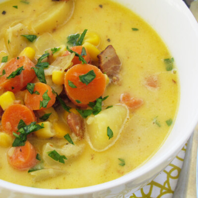 Autumn Chowder: Comfort in a Bowl {Freezer Meal}