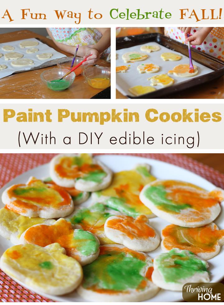 paint pumpkin cookies