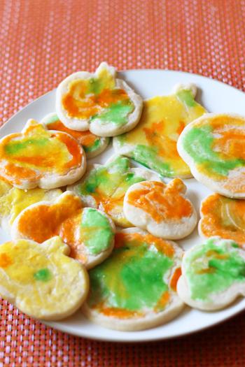 painted pumpkin cookies