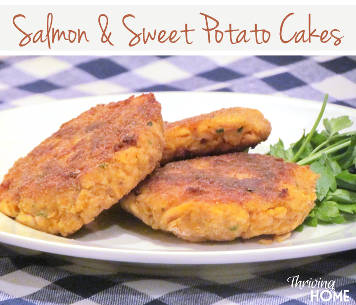 Salmon and sweet potato cakes copy