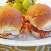 Slow Cooker Chicken Parmesan Sliders {Freezer Meal}