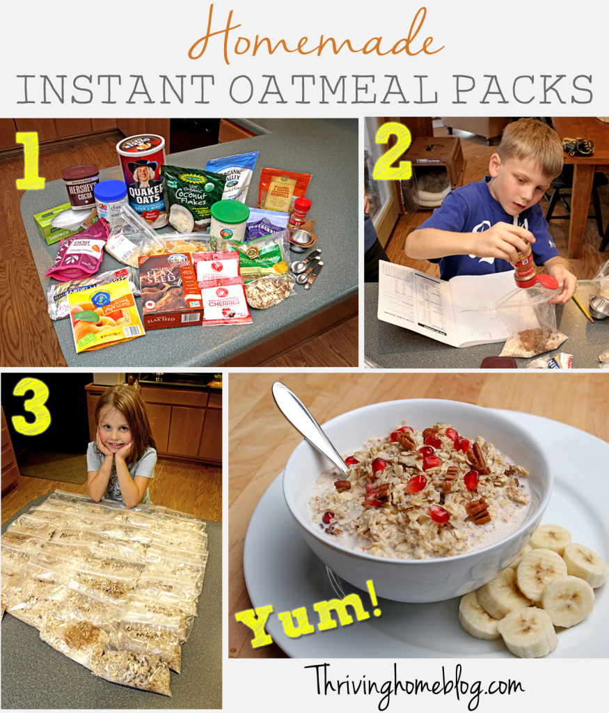Make these homemade instant oatmeal packs ahead of time to enjoy a ...