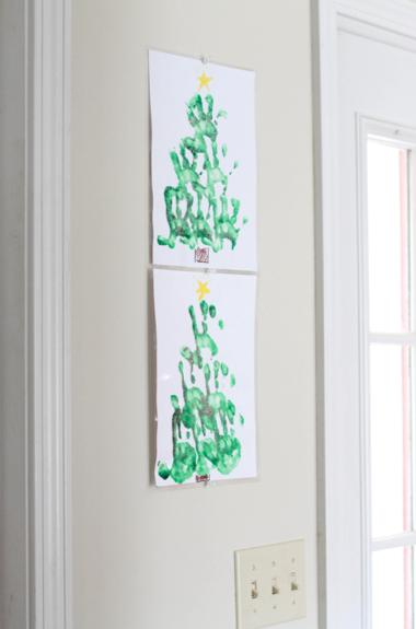 Christmas hand print craft