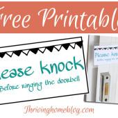 Free Printable: Please Knock Sign