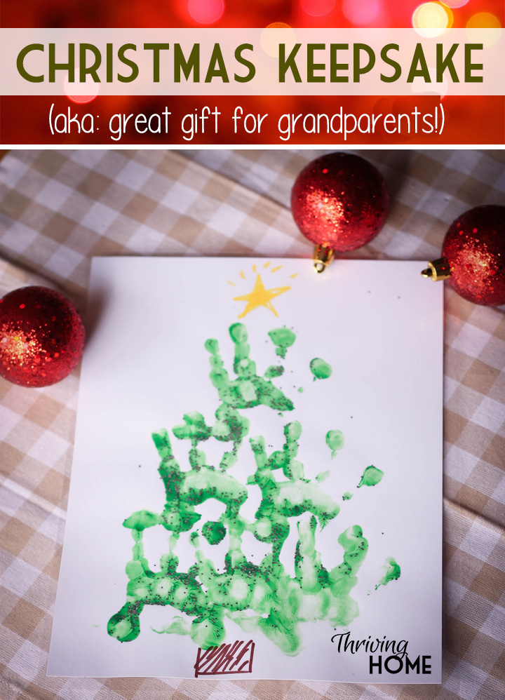 handprint Christmas craft-Thriving Home