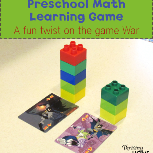 preschool math learning game