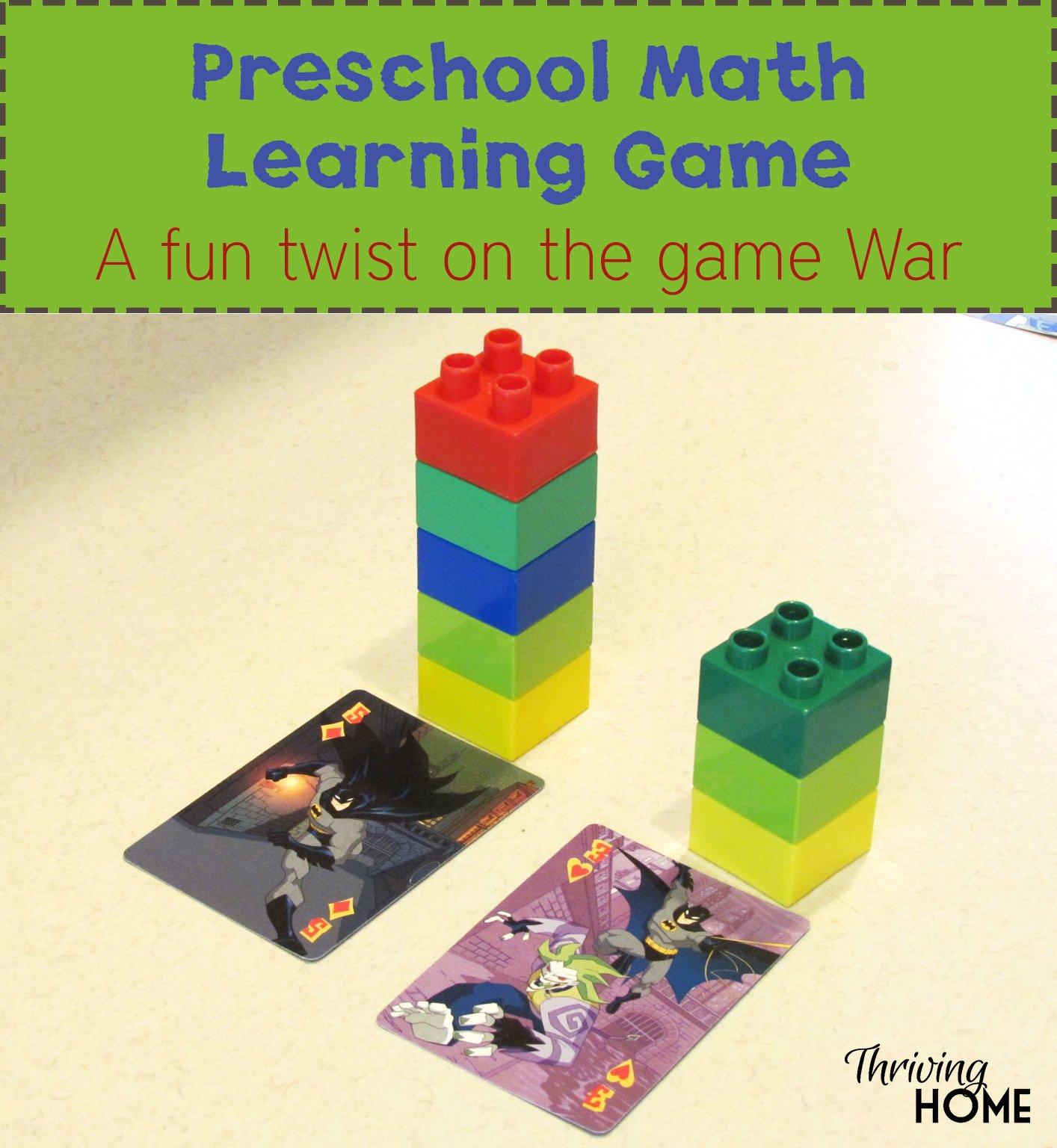 preschool math learning game