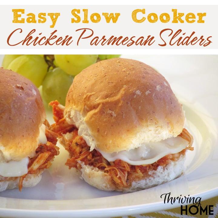 slow cooker parmesan sliders