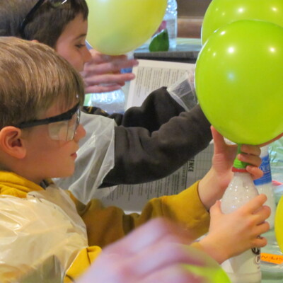 Science Birthday Party: Blow Up That Balloon Experiment