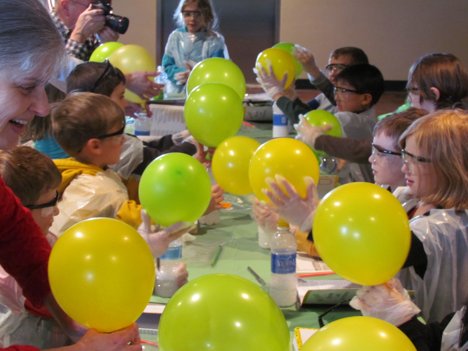 """Blow Up That Balloon"" Science Experiment: What a cheap, easy, and fun science experiment for home, school, or a Science Birthday Party!"