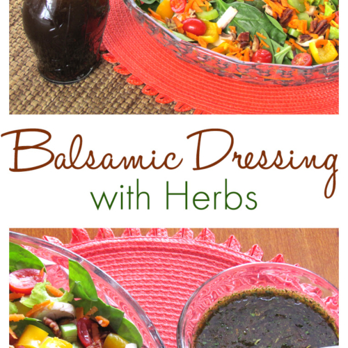 balsamic dressing with herbs
