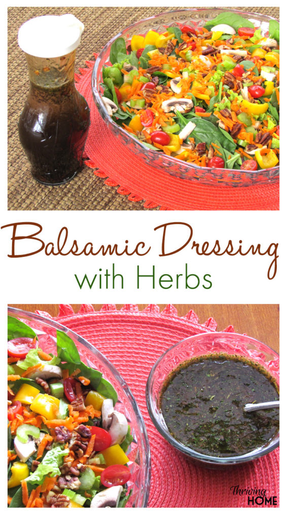 This light and fresh balsamic dressing will enhance any salad you pair it with. Enjoy this easy, healthy dressing!